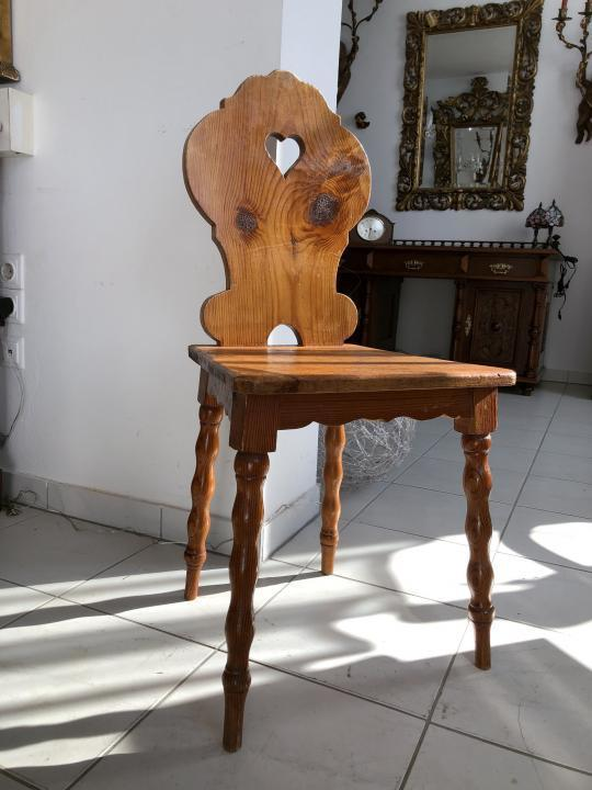 Uriger Bauernsessel Sessel Stuhl Herzerlsessel Zirbenholz X1482