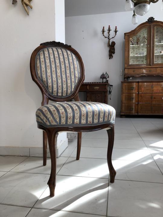 Biedermeier Sessel Nussholz Medaillon Stuhl Original X1501