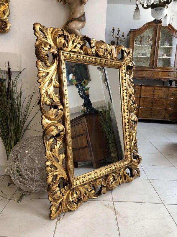 Goldener Wandspiegel Spiegel Florentiner Stil X2068