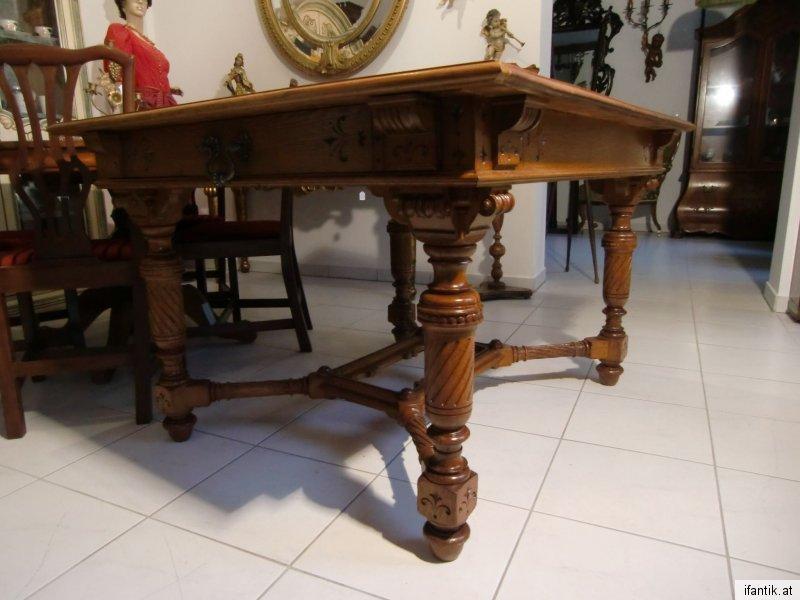 Schöner Gründerzeit Tisch Esstisch Speisezimmertisch Auszugtisch Nr. 6077
