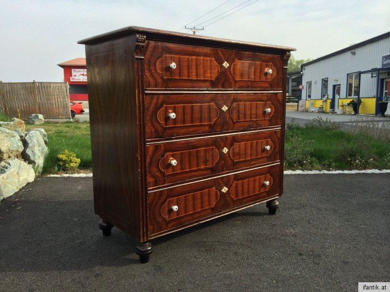 Bäuerliche Anrichte Sideboard Kommode Original Fichtenholz braun lasiert - 6471