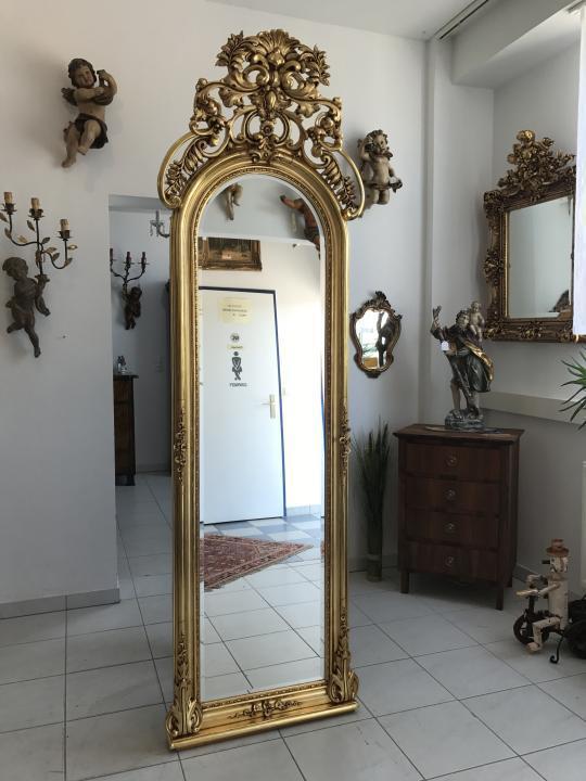 Riesiger Barockspiegel  Florentiner Rahmen vergoldet Original - W2205