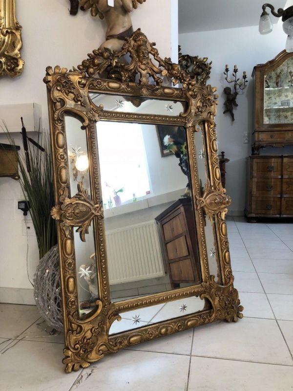 Originaler Florentiner Spiegel florale Schnitzkunst X2153