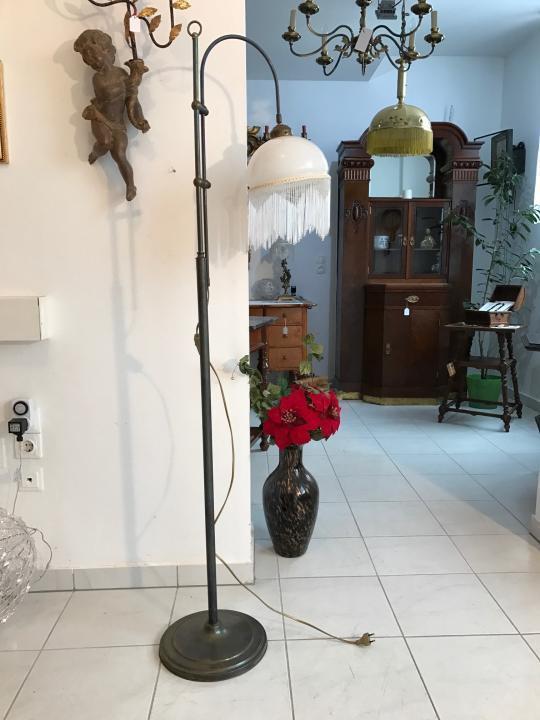 Jugendstil Stehlampe Stehleuchte Höhenverstellbar Messing - W1380