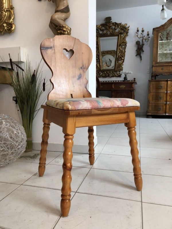 Bauernsessel Sessel Stuhl Herzerlsessel Zirbenholz x2180