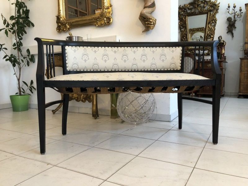 Jugendstil Sofa Diwan Couch Chaiselongue Liege X2098 0