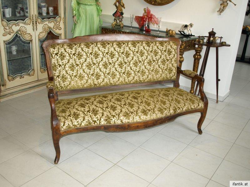 Zierliches Biedermeier 2er Sofa Liege Couch Diwan  6280