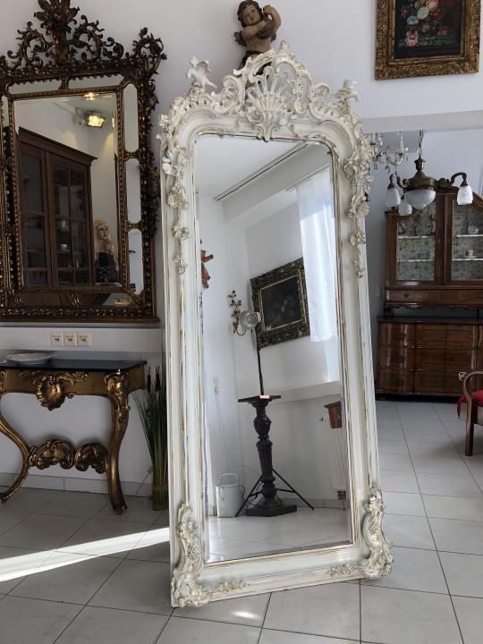 Prächtiger Florentiner Spiegel Biedermeierspiegel Chabby Chic - X1548