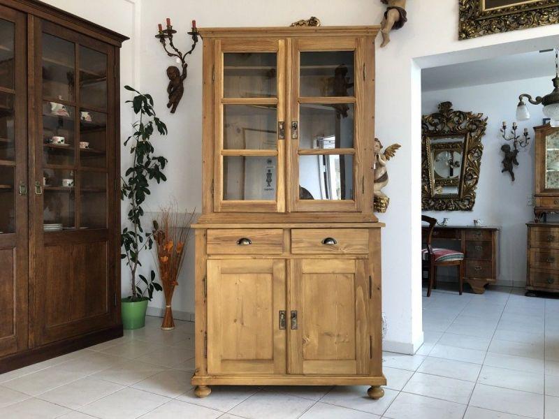 Eleganter Küchenschrank Naturholz Fichtenholz - Kredenz X2398