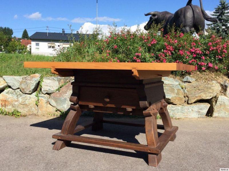Massiver Jogltisch Bauerntisch Massivholz Landhaustisch Tisch - 5974
