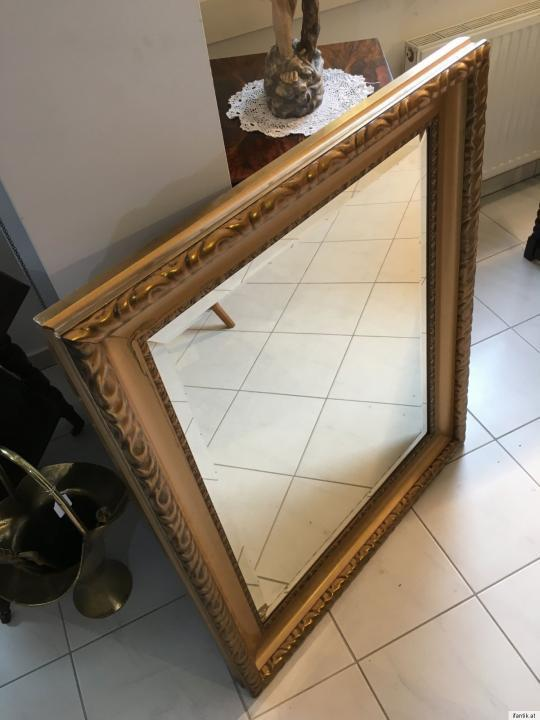 Originaler Jugendstil Spiegel Rahmen vergoldet Ornamentik Traum A1511