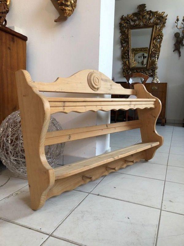 Zierliches Bauernregal Stellage Tellerboard Naturholz X2510