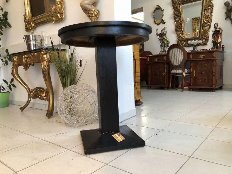 Jugendstil Tisch Beistelltisch Tischerl rund schwarz X2093