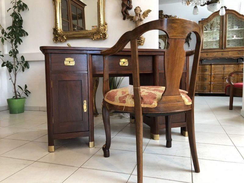 Jugendstil Schreibtisch Sekretär Schreibmöbel Restauriert X2088