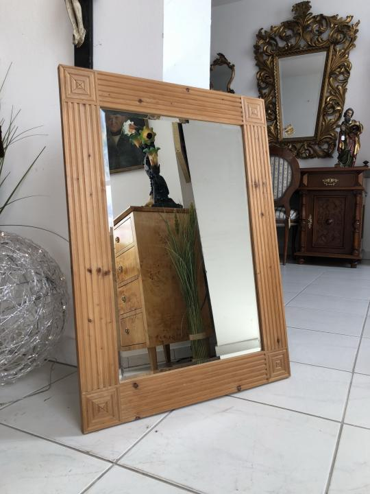 Bäuerlicher Spiegel Holzspiegel Wandspiegel Dekospiegel X1934