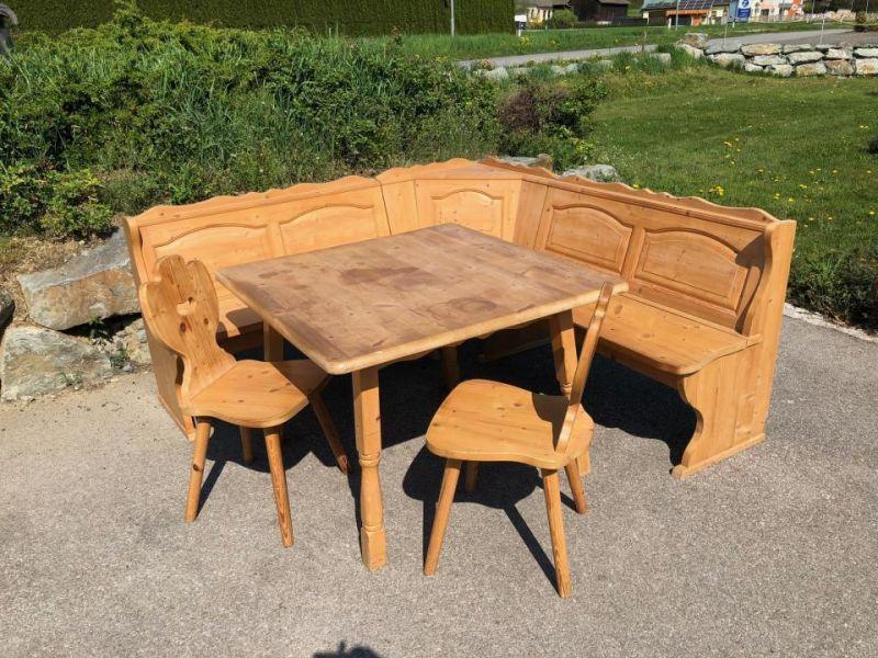 Eckbankgruppe Jogltisch Sessel Bauernstube Naturholz X1551