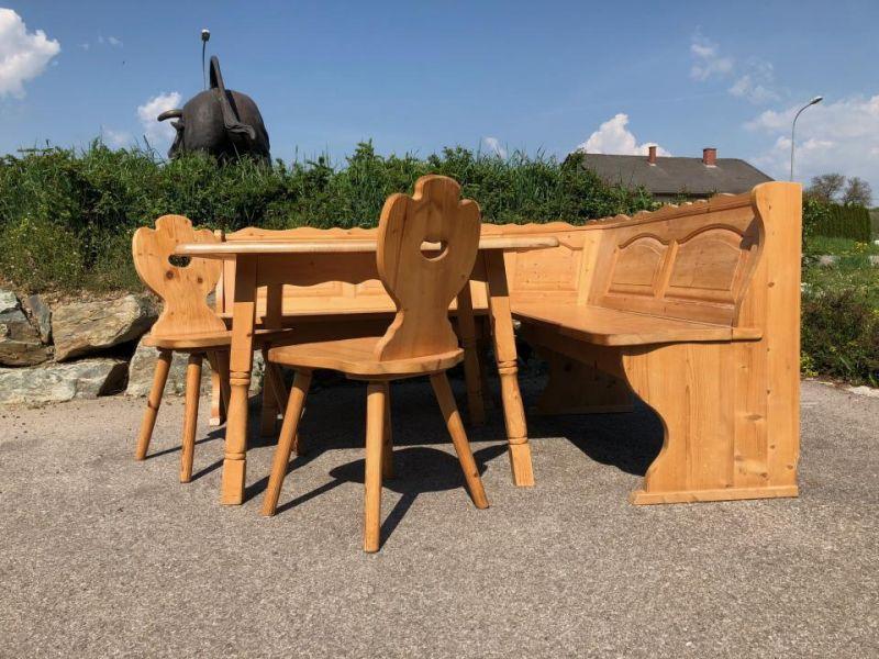 Eckbankgruppe Jogltisch Sessel Bauernstube Naturholz X1551 1