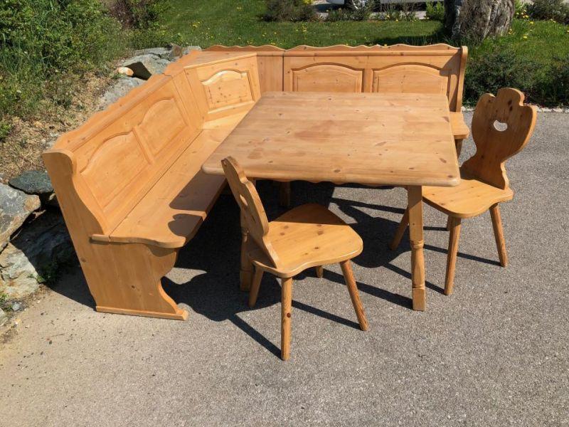Eckbankgruppe Jogltisch Sessel Bauernstube Naturholz X1551 3