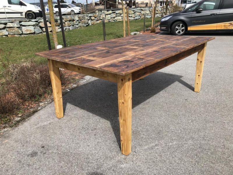 Alter Tisch Bauerntisch Jogltisch Landhaustisch Naturholz Brettholztisch 2m X145