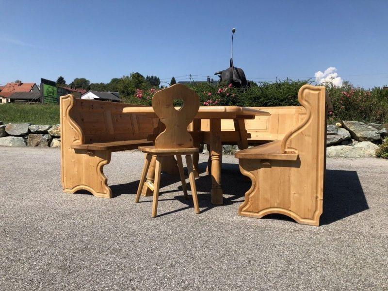 Eckbankgruppe Jogltisch Bauernsessel Holz X2118
