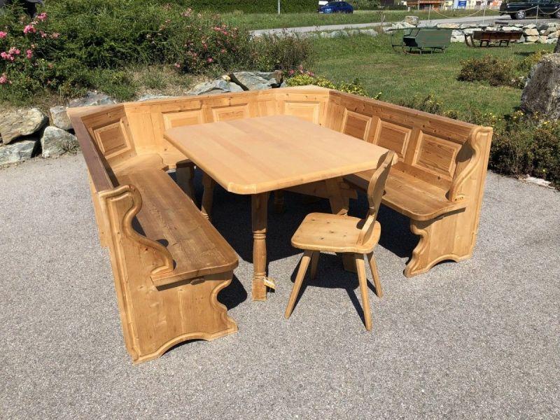 Eckbankgruppe Jogltisch Bauernsessel Holz X2118 5