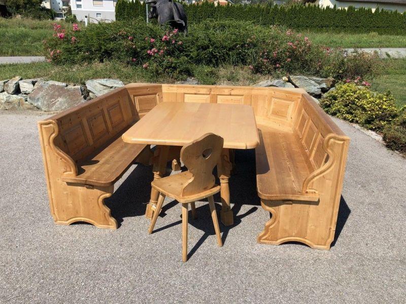 Eckbankgruppe Jogltisch Bauernsessel Holz X2118 6