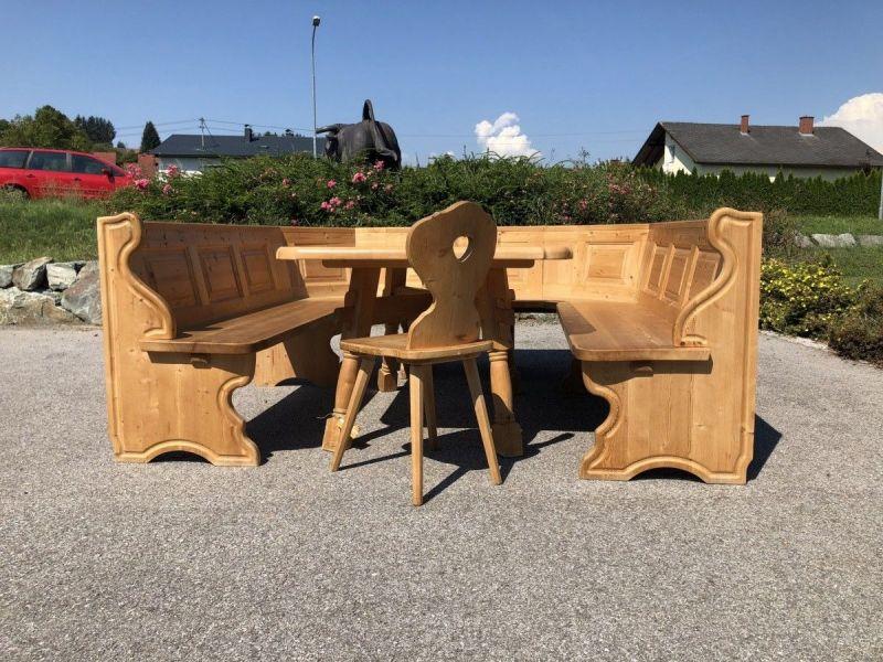 Eckbankgruppe Jogltisch Bauernsessel Holz X2118 7