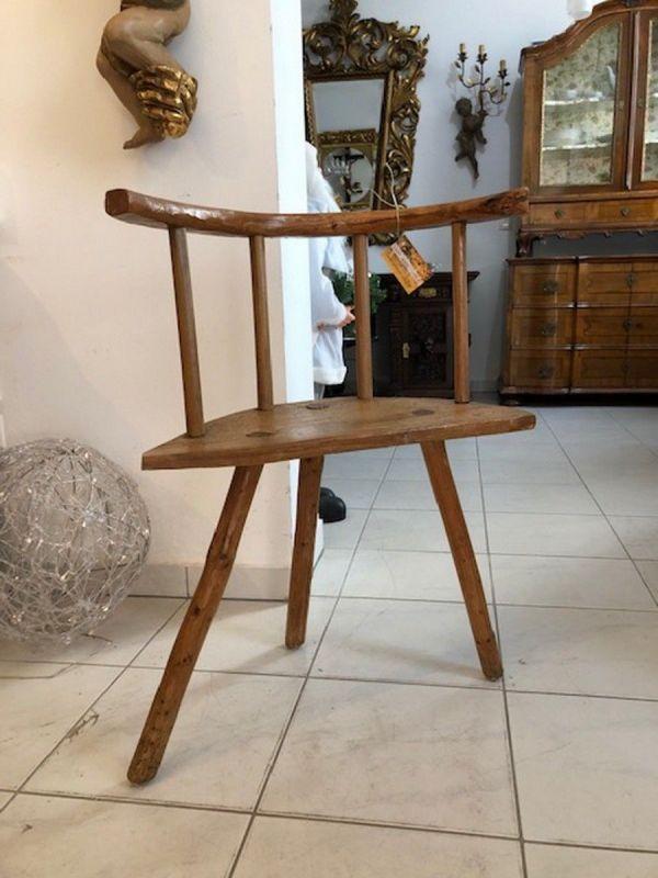 Alter Bauernsessel Sessel Stuhl Dreibein Bauernstube X2655