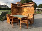 Zirbenholz Eckbank Bauerntisch 2 Sessel Sitzgruppe X2337