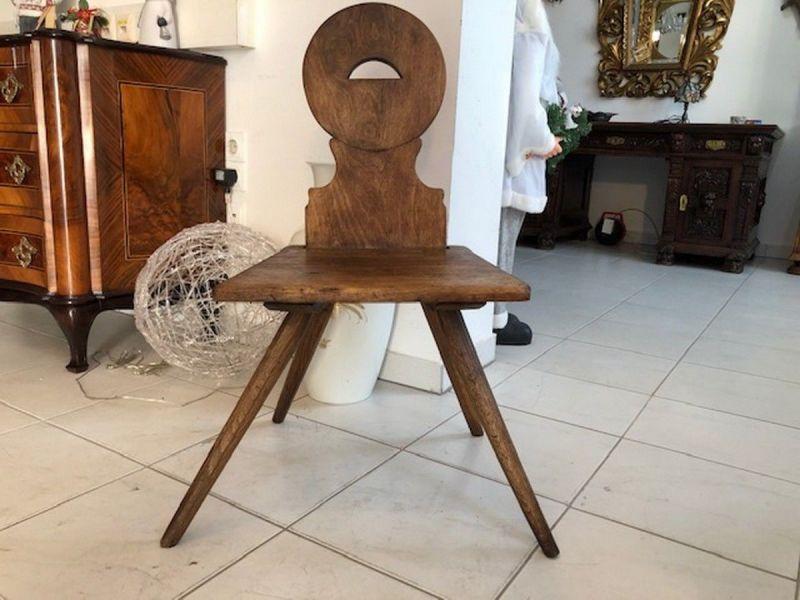 Alter Bauernsessel Sessel Stuhl  Brettstuhl X2749