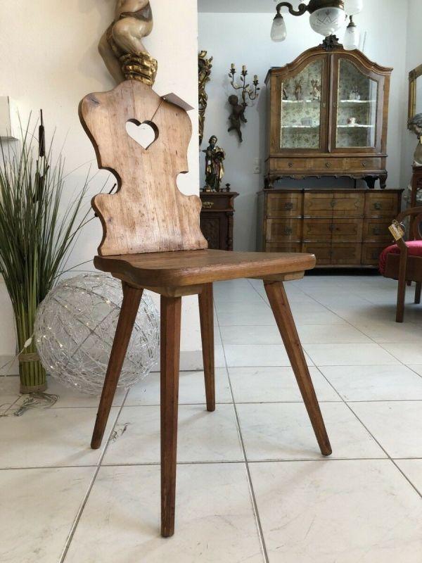 Alter Bauernsessel Sessel Stuhl Herzerlsessel X1992