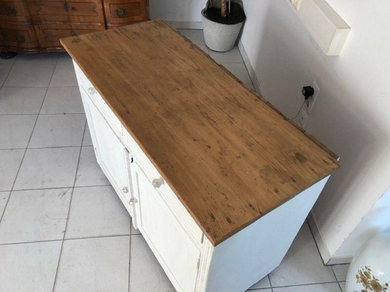 Bäuerliche Anrichte Sideboard Kommode Naturholz Z1094 6