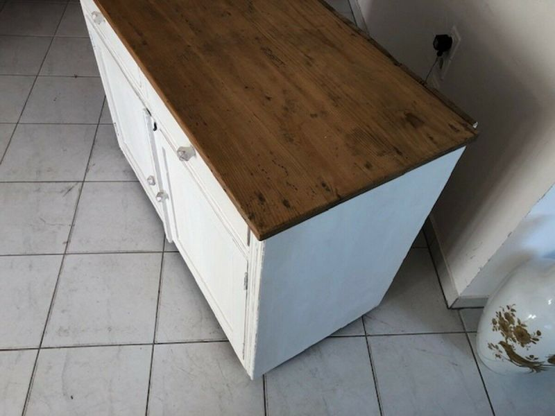 Bäuerliche Anrichte Sideboard Kommode Naturholz Z1094 7