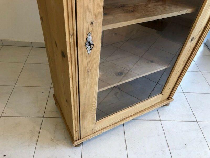Originale Gründerzeit Vitrine Bauernschrank Glasschrank Z1085 5