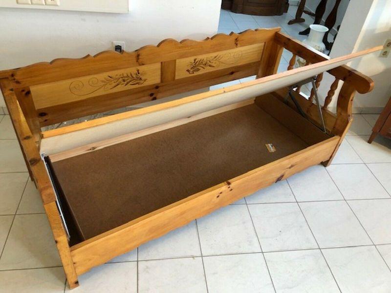 Massives Zirbenholz Sofa Couch EInzelbett Bettbank Z1072 1