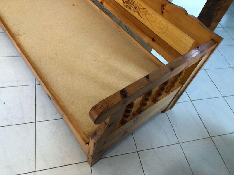 Massives Zirbenholz Sofa Couch EInzelbett Bettbank Z1072 4