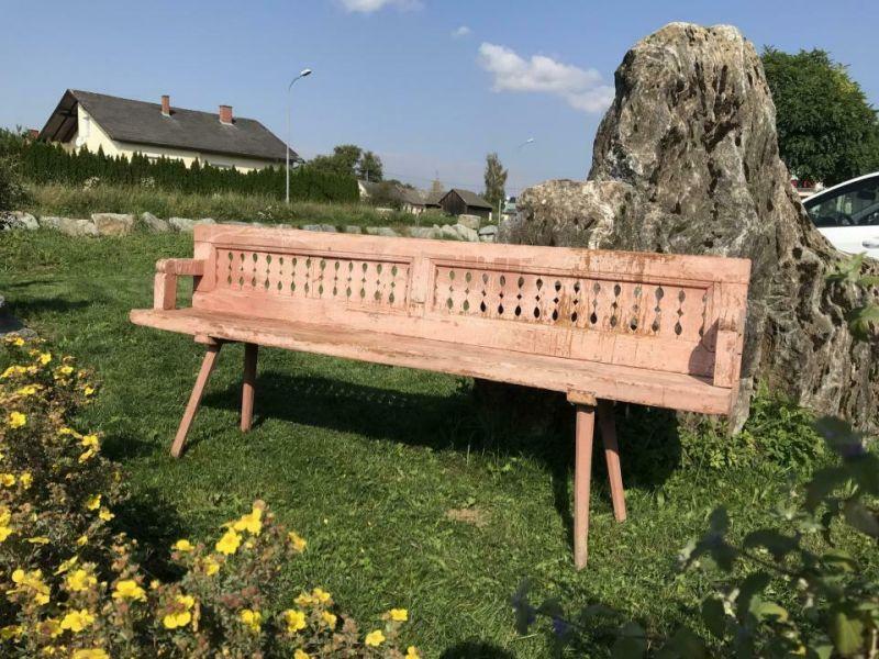 Uriges Biedermeier Wende Bankerl Sitzbank Bauernbankerl Sitzbankerl - W3154 0