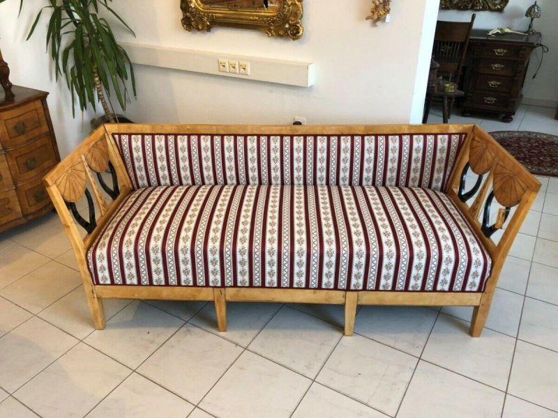 Originales restauriertes Biedermeier Sofa Couch Z1233 1