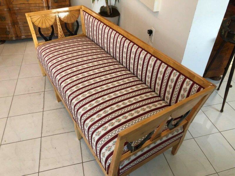 Originales restauriertes Biedermeier Sofa Couch Z1233 8