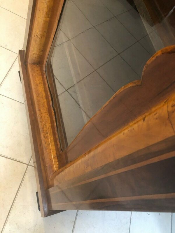 Originale Biedermeier Glasschrank Bücherschrank Vitrine Z1153 7