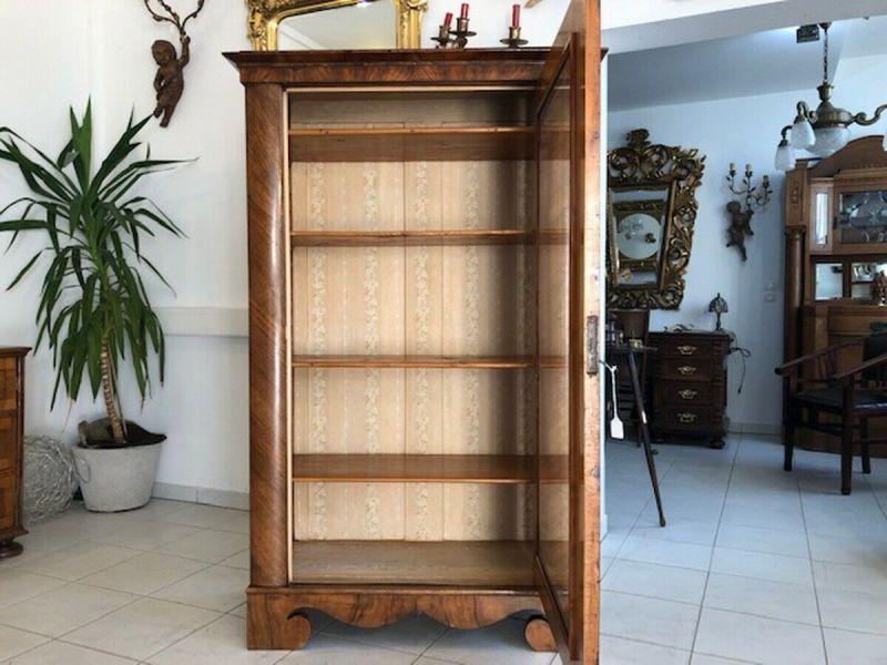 Originale Biedermeier Glasschrank Bücherschrank Vitrine Z1191 1