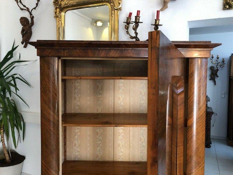 Originale Biedermeier Glasschrank Bücherschrank Vitrine Z1191 3