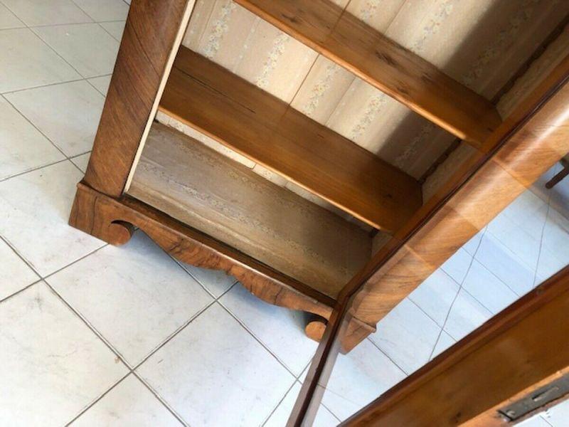 Originale Biedermeier Glasschrank Bücherschrank Vitrine Z1191 4