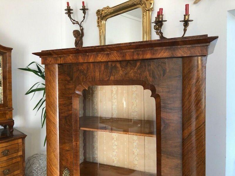 Originale Biedermeier Glasschrank Bücherschrank Vitrine Z1191 8
