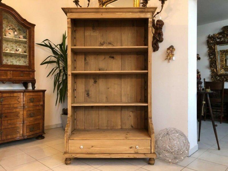 Altes Bücherregal Stellage Gründerzeit Bücherschrank Naturholzmöbel Z1224