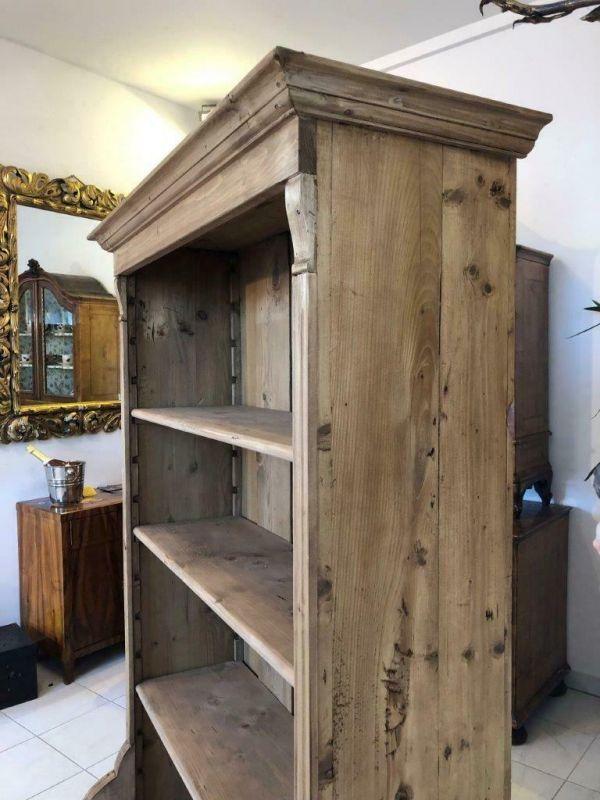 Altes Bücherregal Stellage Gründerzeit Bücherschrank Naturholzmöbel Z1224 4