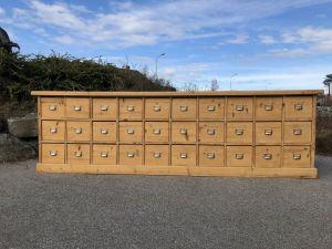 Bäuerliche große 30 Ladenkommode Apothekenschrank Ladenschrank Z1281