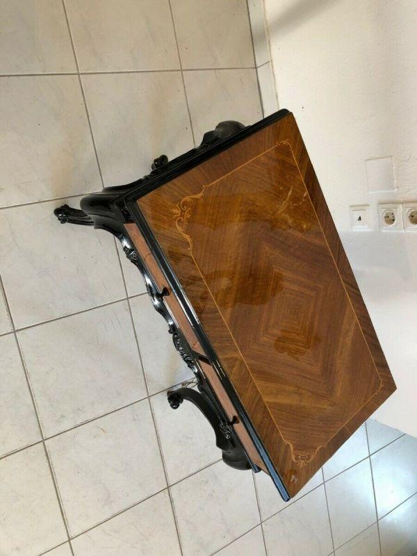 Chippendale Kommode Nussholz Beistelltisch Z1201 8