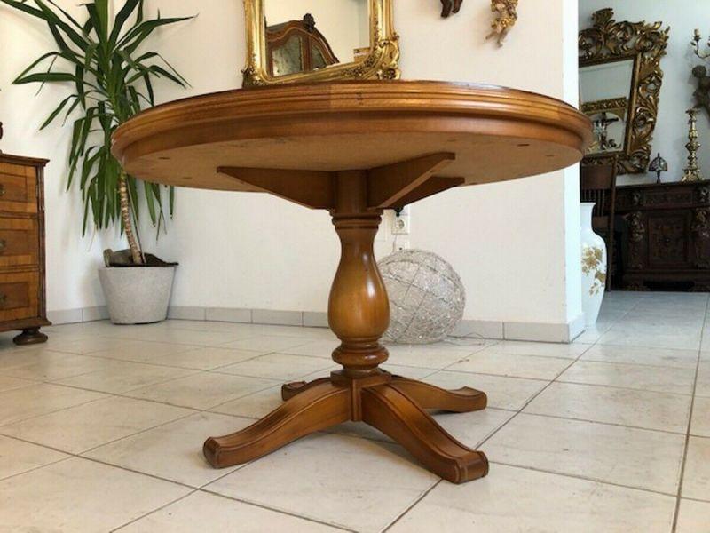 Runder Couchtisch Tisch Barockstil Buchenholz Z1132