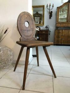 Uriger alter Bauernsessel Sessel Stuhl Bauernstube X1620